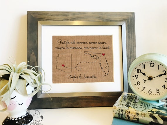 Best Friends Long Distance Gift Moving Away Gift Birthday Etsy