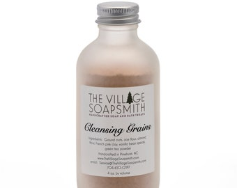 Cleansing grains, face wash, soapless cleanser
