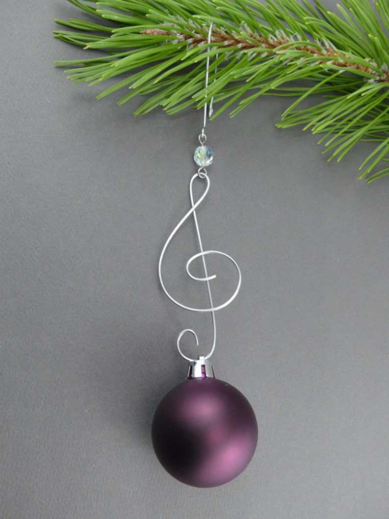 Treble Clef Christmas Tree Ornament Hangers Wire Christmas Etsy