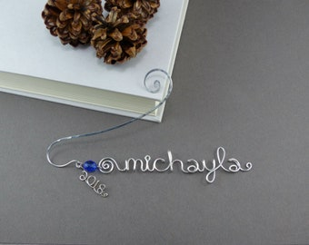 Custom Bookmarks Wire Printing Bookmarks - Personalized Bookmark - Wedding Bookmarks Graduation Gift