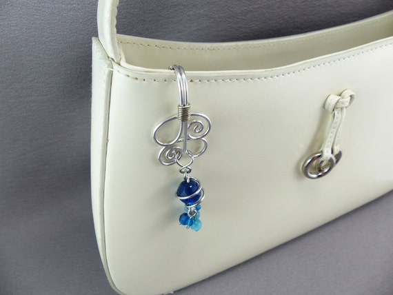 TWO Key Finder Keychain Purse Charms with Detachable Key Ring Purse Accessory