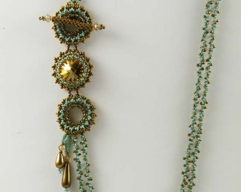 Beading Tutorial - On The Side Necklace