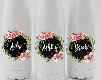 Bridesmaid gift, S'well bottle, tumbler, stainless steel, personalized water bottle, water bottle, Maid of honour gift, wedding party