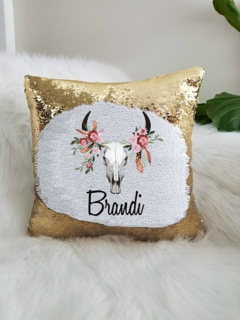 42a5cfb1086 Sequin pillow personalized personalized gift custom sequin