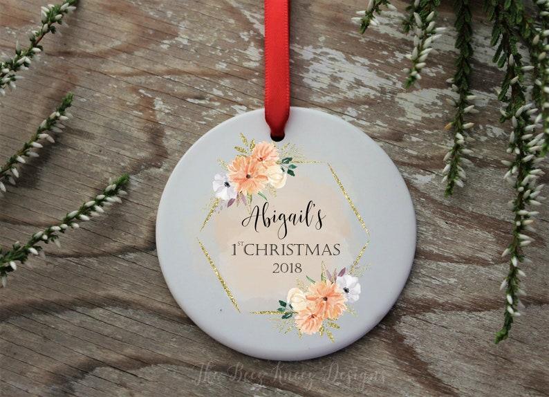 Ornament Christmas First Christmas Christmas gift Christmas ornament Personalized ornament Baby ornament 2018 1st Christmas bauble