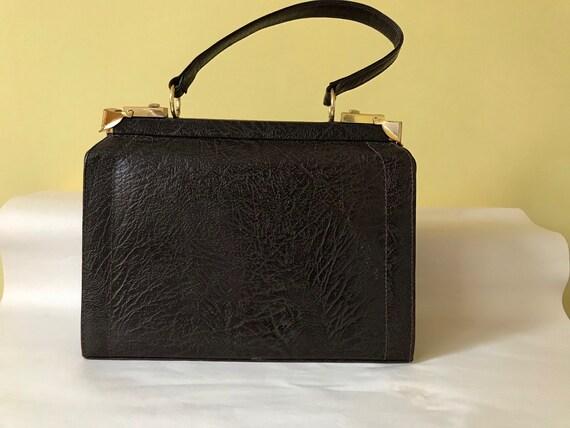 Vintage 1950s Leather Handbag