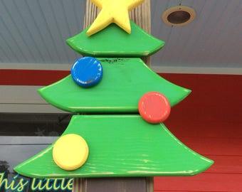 Christmas tree, Christmas decorations, Distressed, Shabby Chic