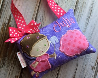 92862c20b7b6f3 Personalized Tooth Fairy Pillow for Girls - Girls Custom Fairy Tooth Pillow