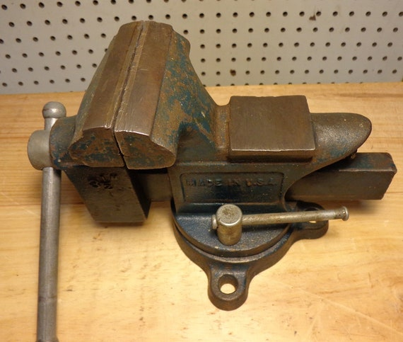 Vintage Dunlap 3 1/2 Bench Vise 506-51770 Swivel Base | Etsy