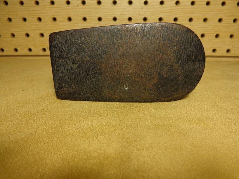 Vintage M 28 NY dated Nov Mahoney Cast Iron Polishing Sad iron Troy 1876