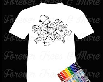 Color Me Tee-Super Mario Bros