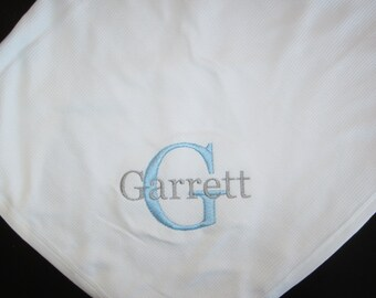 ccb7d20d029a Monogrammed Baby Blanket - Personalized Baby Blanket - Monogrammed Baby  Gifts - Monogrammed Gifts - Personalized - Blankets - Baby Boy