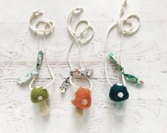 Childs Retro Mushroom Necklace