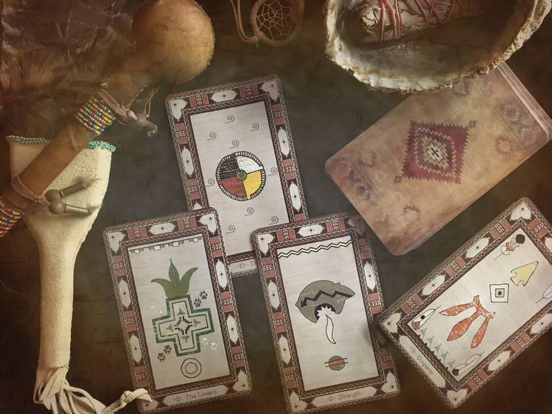31b1e51a5d5 All Paths Native American Major Arcana Tarot Deck | Etsy