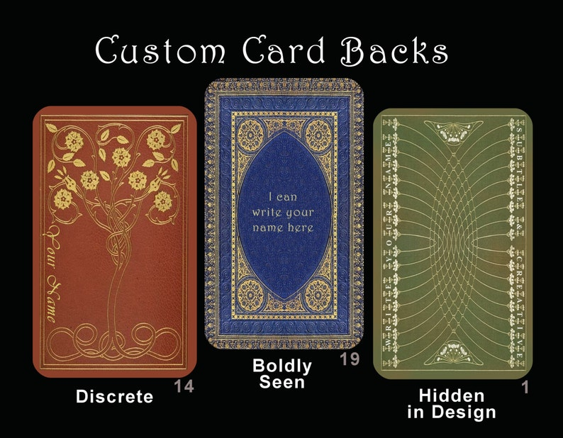 cea776f59341c CUSTOM CARD BACKS For Tarot and Lenormand Decks