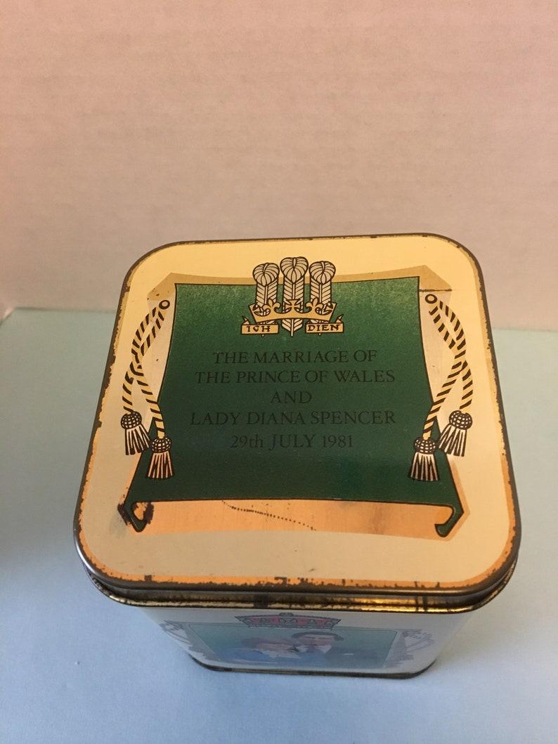 Charles and Diana Wedding Day Commemorative English Tea Tin