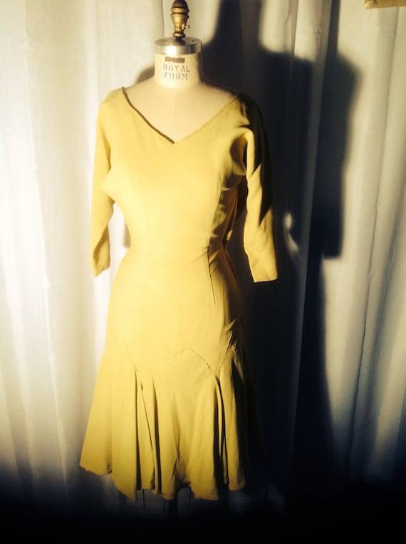 Vintage mustard dress -1960s