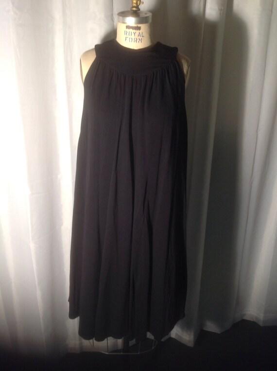Little black dress - maternity -1960's