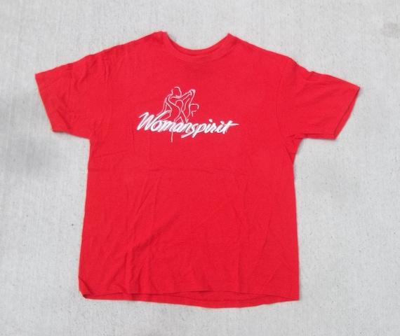 Vintage T-shirt Womanspirit 1980s Single Stitch Le