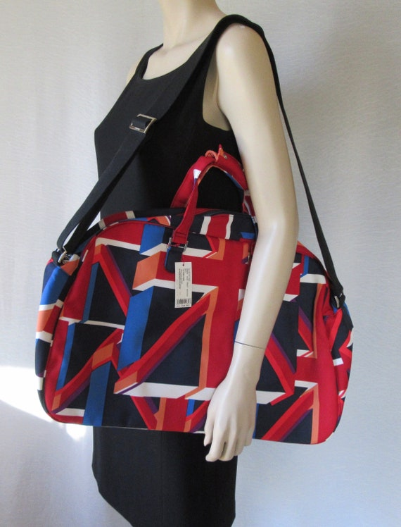 Vintage Mary Quant Union Jack Print Boston Bag Ove