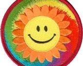 Tye Dye Smiley Happy Faces Patch CDV-P3463