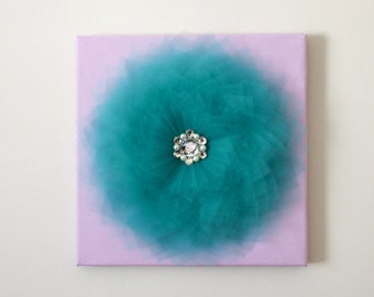Teal Wall Decor Etsy