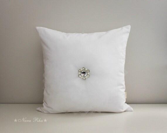White Flower Pillow Covers White Wedding Pillow White Throw Etsy