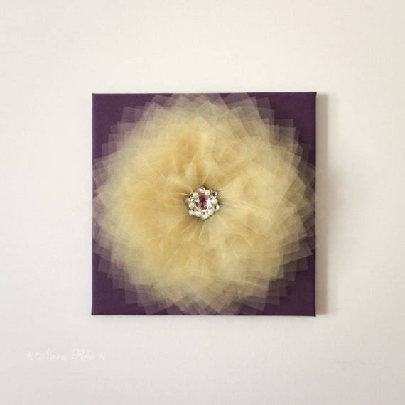 Flower Wall Hangings Yellow and Purple Flower Wall Decor