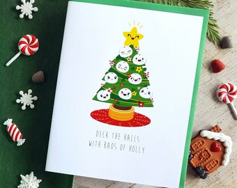 Holiday Collection: Baos of Holly Note Card - A2