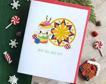 Holiday Collection: Halo-Halo-Days Note Card - A2