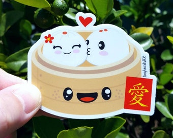"Dim Sum Sticker Cute Kawaii 3.0"" x 2.5"""
