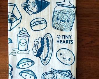"Turquoise Flour Sack Towels, 27"" x 27"""