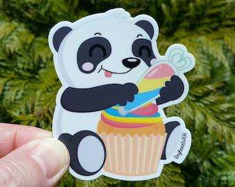 "Cupcake Panda Sticker Cute Kawaii 2.625"" x 3.0"""