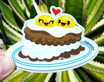 "Loco Moco Sticker Cute Kawaii 3.75"" x 2.5"""