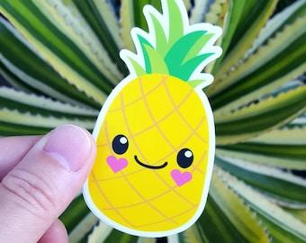 "Pineapple Sticker Cute Kawaii 2"" x 3.5"""