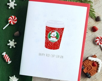 Holiday Collection: Red Cup Note Card - A2