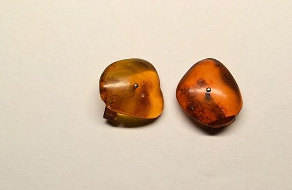 1040/'s 1950 Vintage Amber Celluloid Button CufflinksCufflinksMid-Century Amber Celluloid CufflinksAmber Button Shirt Sleeve Cufflinks
