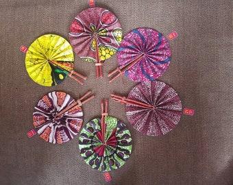 African Fabric Fans/Ankara Fans/Fans/Unique Fans/African accessories/hand fans/Unique hand fanss/Fabric Fans