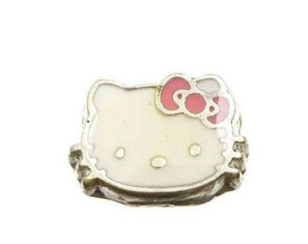 1389291e1 Hello Kitty cat charm Floating Charm for Origami and other Glass Memory  Floating Lockets