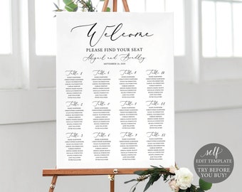 make unlimited wedding signs template try before you buy etsy