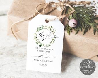 wedding favor tags etsy