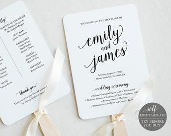 fan program download diy program fans editable wedding fan calligraphy casual,PDF fan printable diy wedding fans diy editable Fan 13