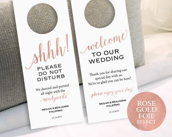 Wedding Door Hanger Etsy - Editable door hanger template