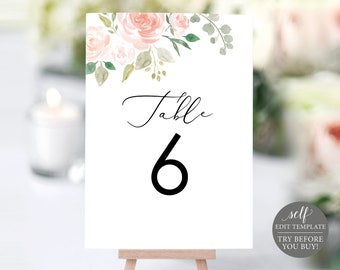 printable table numbers etsy