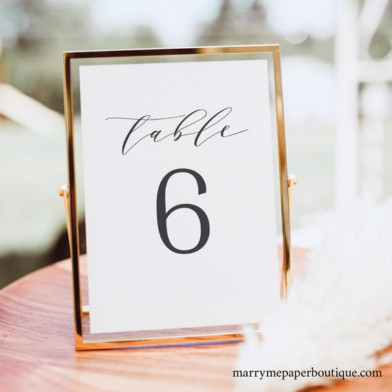 Table Number Template,  Editable Instant Download, Formal & Elegant, TRY BEFORE You BUY