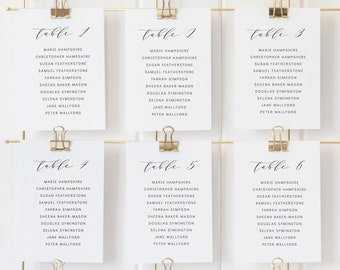 Wedding Seating Chart Template, Editable Instant Download, Formal Elegant, TRY BEFORE You BUY