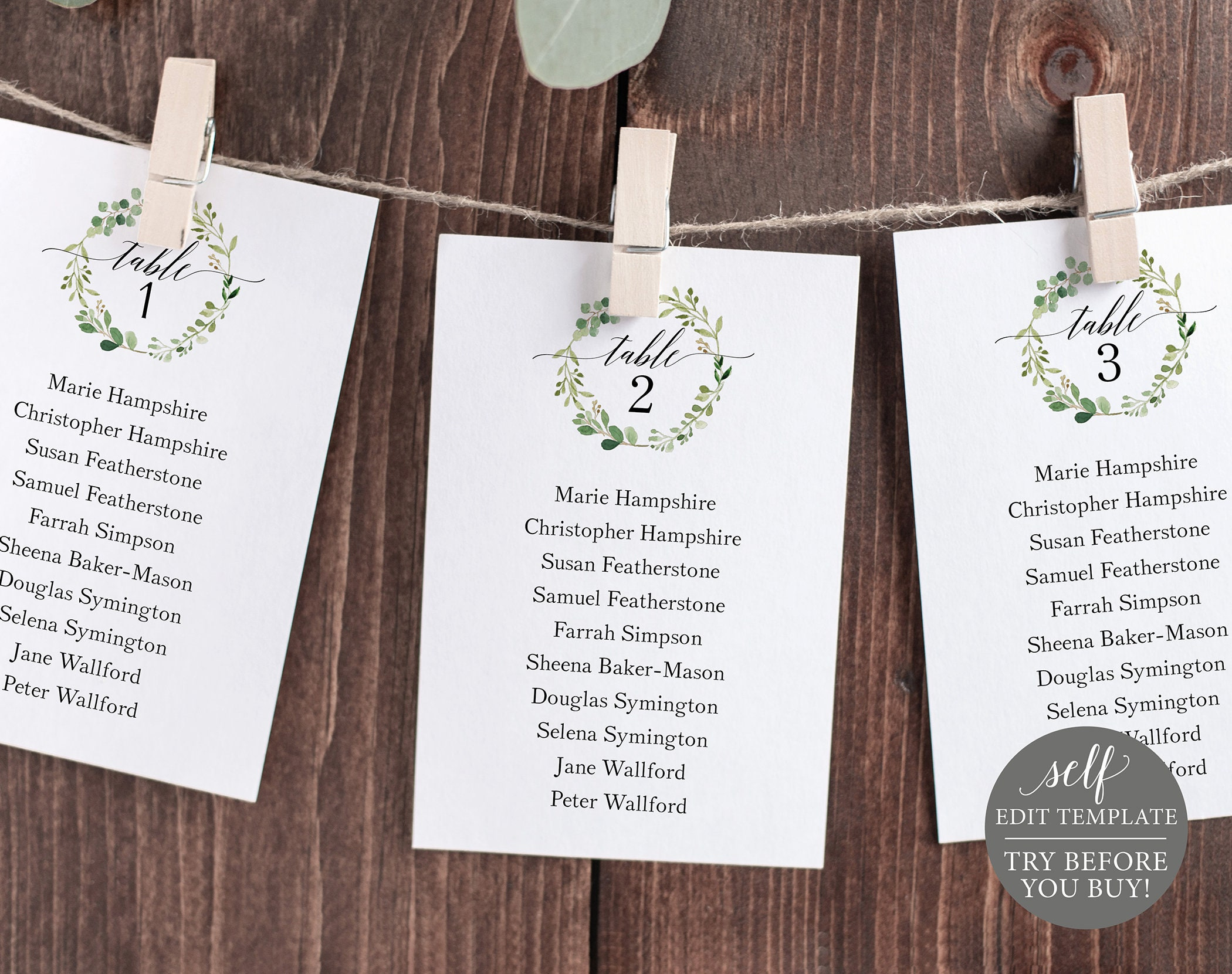 It's just a picture of Unforgettable Printable Escort Cards