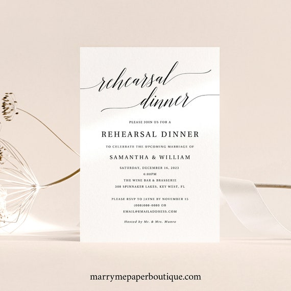 Rehearsal Dinner Invitation Template, Rustic Wedding Rehearsal Invite, Printable, Editable, Templett INSTANT Download