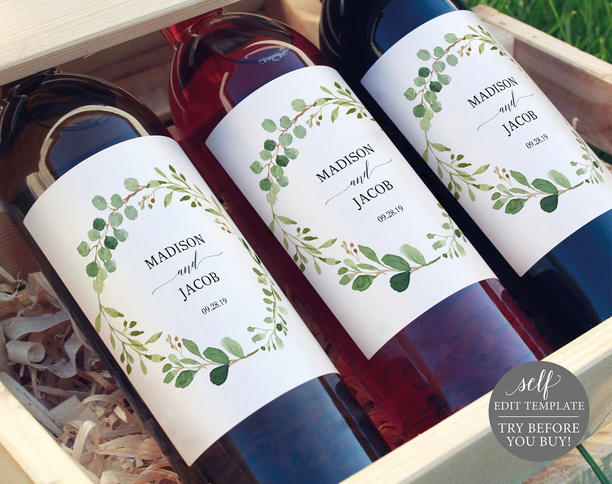 It's just a graphic of Satisfactory Wine Labels Printable