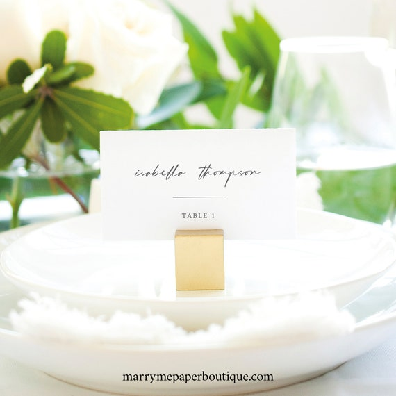 Place Card Template, Handwritten Style Font, Editable & Printable, Try Before You Buy, Instant Download, Templett